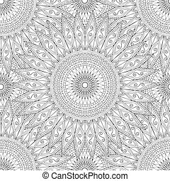Coloring pages for adults.Decorative hand drawn doodle...