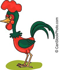 cock - coloring pages for childrens with funny animals,cock