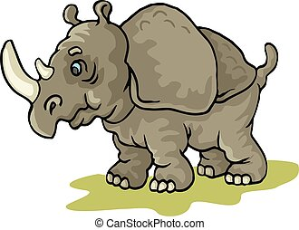 rhinoceros - coloring pages for childrens with funny...