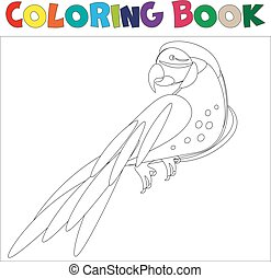 Coloring pages Parrot .