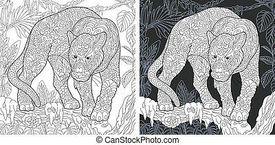 Coloring pages with panther