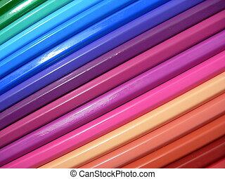 Coloring pencils - A dozen of coloring pencils.