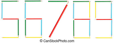 Coloring Pencils Numbers 5-9
