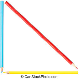 Coloring Pencils Triangle Shape