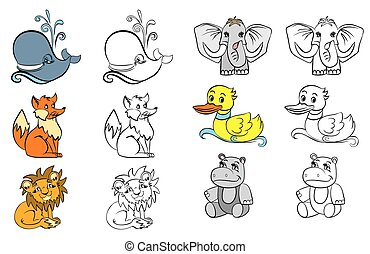 Coloring with animals