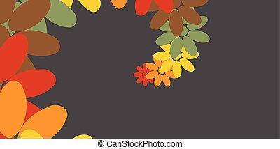 colorito, astratto, casuale, illustrazione, creativo, vettore, fiori, disegno