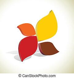 colorito, astratto, fondo, vettore, forma