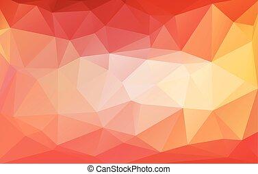 colorito, astratto, geometrico, rumpled, triangolare, basso,...