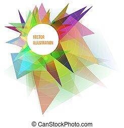 colorito, astratto, illustrazione, vettore, fondo, geometrico