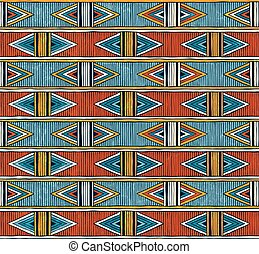 colorito, astratto, pattern., seamless, fondo., vettore, tribale