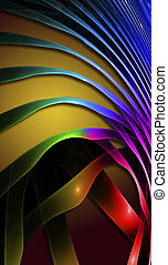 colorito, astratto, wave., fractal disegnano, fantastico