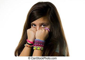 colorito, braccialetti
