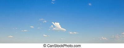 colorito, brillante blu, cielo, fondo