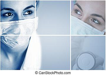 colorito, collage medico