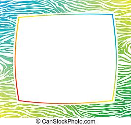 colorito, cornice, struttura, vettore, pelle zebra, astratto