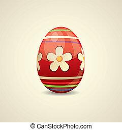colorito, dipinto, uovo di pasqua
