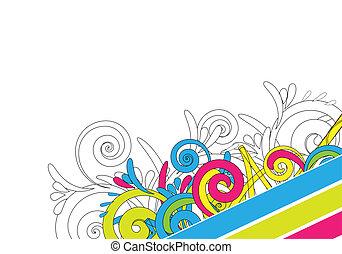 colorito, disegno astratto