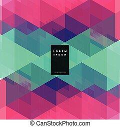 colorito, disegno geometrico, astratto, fondo