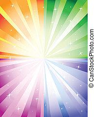 colorito, fondo, con, scoppio
