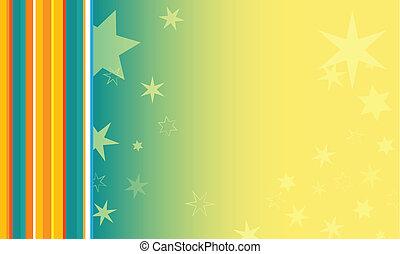 colorito, fondo, con, stelle