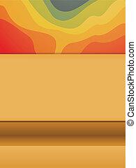 colorito, fondo, copyspace, onde