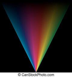 colorito, fondo, spettro