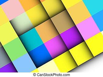 colorito, frames., geometric., astratto, quadrato, vettore, fondo