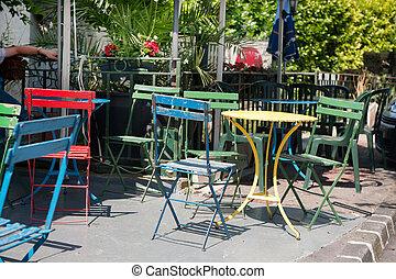 colorito, francese, terrazzo
