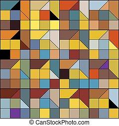 colorito, geometrico, fondo, astratto, seamless