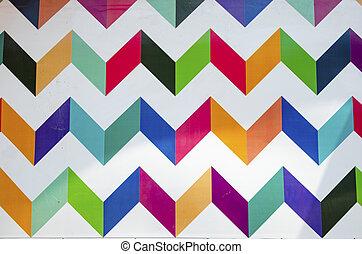 Colorito, Geometrico, Parete, Pittura
