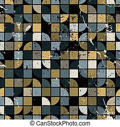 colorito, geometrico, quadrato, seamless, patt, vettore, labirinto, fondo