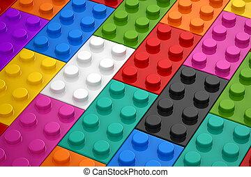 colorito, giocattoli, pezzo
