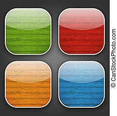 colorito, icone, legno, app, sfondi, struttura