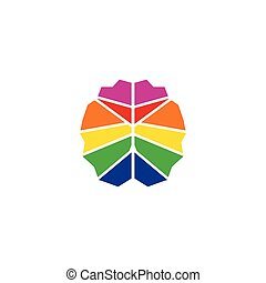 colorito, illustrazione, cervello, disegno, sagoma, logotipo