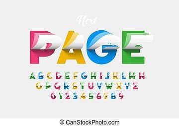 colorito, invertendo, stile, pagine, font