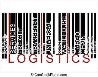 colorito, logistica, testo, barcode, vettore