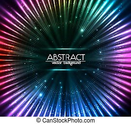 colorito, lucente, cosmico, luci, astratto, fondo