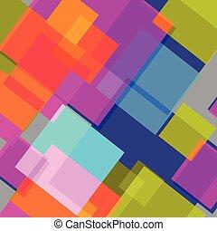 colorito, luminoso, astratto, squares., fondo, vettore