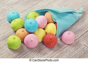colorito, marshmallow