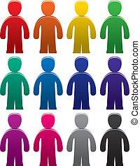 colorito, maschio, simboli