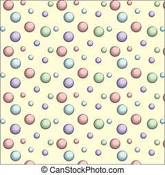 colorito, modello, anelli, seamless, struttura, circles., bolle