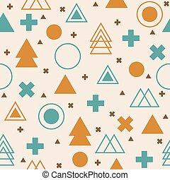 colorito, modello, astratto, seamless, fondo., geometrico, tribale