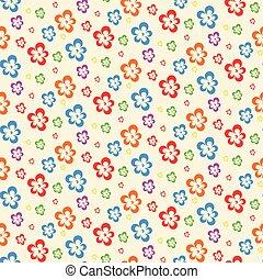 colorito, modello, astratto, seamless, lite, fiori
