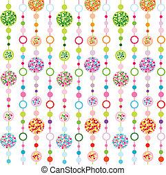 colorito, modello, con, circolari
