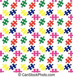 colorito, modello, puzzle, jigsaw, seamless, vettore