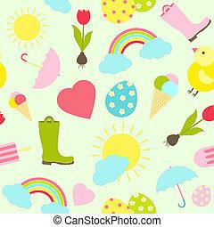 colorito, modello, seamless, fondo, primavera, fresco