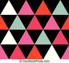 colorito, modello, seamless, fondo., vettore, triangoli