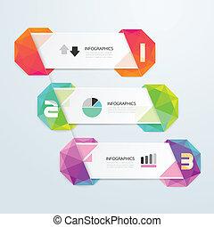 /, colorito, numerato, essere, geometrico, bandiere, infographics, usato, lattina, disegno, moderno