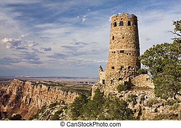 colorito, paesaggio, di, grande canyon