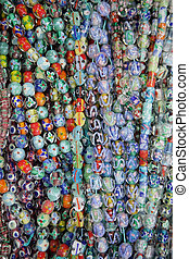 colorito, perle bicchiere, fondo